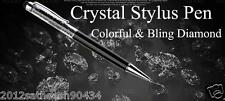 2 in 1Crystal Diamond Capacitive Touch Stylus Touch Screen Pen for Mobile(Black)