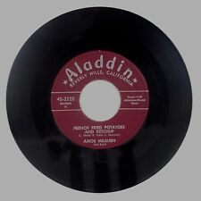 AMOS MILBURN: French Fried Potatoes / I Need Someone R&B Rocker ALADDIN Orig 45