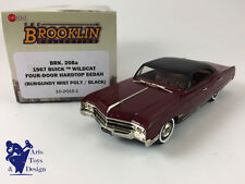 1/43 BROOKLIN 208A BUICK WILDCAT 4 DOOR HARDTOP SEDAN 1967 BURGUNDY / BLACK