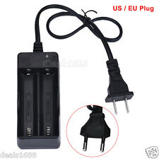 AC 110V 220V Dual Charger 18650 3.7V Rechargeable Li-Ion Battery US / EU Plug