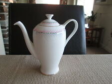 VINTAGE ROYAL STANDARD PINK & SILVER SWIRLS COFFEE POT