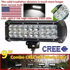54W 9inch Cree Led Work Light Bar Flood Spot Combo SUV Offroad 4WD Fog Truck 4x4