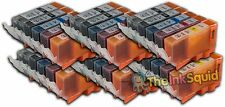 30 Compatible Canon Pixma PGI-525 / CLI-526  Ink Cartridges with Chips (6 Sets)
