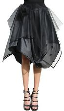 Ladies knee length tulle-skirt transparent with balloon skirt black Petticoat