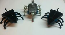 Lot of 3 MGA Insecto Bot Battery Operated Interactive Bugs Radio Shack FOR PARTS