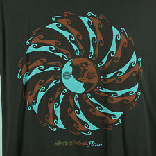 Obey Mens XL Global Flow TShirt S/S Brown Mother Earth Clothing Extra Large