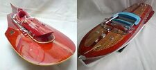 "Lot of Ferrari Hydroplane 20"" & Riva Tritone 26"" Quality Wooden Speed Boat Model"