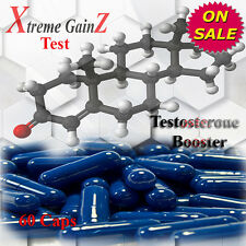 60 TEST BOOSTER CAPSULES NATURAL MUSCLE GROWTH  TESTOSTERONE ENHANCER PILLS