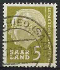 Saar 1957 SG#381, 5f President Heuss Definitive Used #A81307