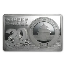 2013 30th Anniversary of Chinese Panda 3 oz Silver Coin and Bar Set - SKU #80091