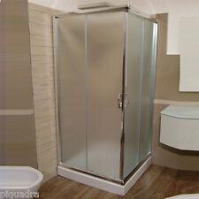 Box doccia angolare 100x100 in cristallo 6 mm cabina scorrevole vetro opaco