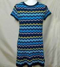 Missoni For Target Short Sleeve Multicolor Chevron Striped Knit Dress Size Small