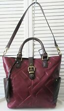 NWT TIGNANELLO GLAZED VINTAGE EMBOSSED LEATHER SHOPPER, CHIANTI