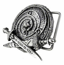 "Alchemy Gothic Viking Shield War Band Belt Buckle for 1.5""/4cm belt straps New"