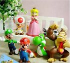 Vogue 6 pcs Lovely Lots Nintendo Super Mario Bros Action Figure Toys Gift New SF