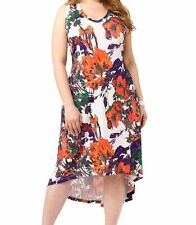 Jete By Gwynnie Women's Floral Tank Dress, Hi Lo bottom, in a Plus Size 3X,NWOT