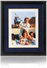 Gordon mcqueen leeds united main signé 16x12 montage l'association aftal photo preuve coa