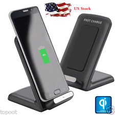 Qi Fast Wireless Charger Rapid Charging Stand Dock For Samsung Galaxy S7/S7 Edge