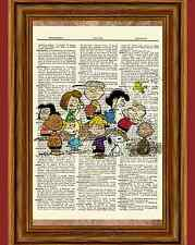 Charlie Brown Peanuts Dictionary Art Print Picture Poster Snoopy Lucy Sally