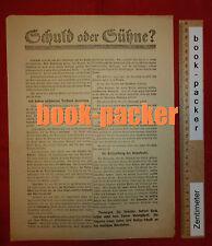 Orig. Flugblatt SPD Spartakus-Aufstand 1919: SCHULD ODER SÜHNE? #1