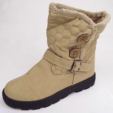 C.H. Creation Beige Boots Buckle Size UK 7 EU 40 (M1-2)