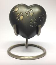Paw Print mascota corazón Keepsake urna Inc Base Y Caja