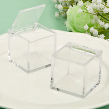 80 Perfectly Plain Acrylic Box DIY Wedding Baby Shower Party Event Favors Lot