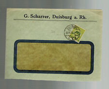 1923 Duisburg Germany Inflation Window cover 10 Million RM