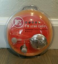 MTV FM Radio Scan Vintage Portable Radio Earbuds 1027 New NIP - Collectible