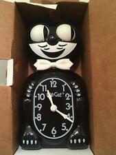 Black Kitty Cat Clock Rolling Eye Wagging Tail Kit Kat NIB 15""