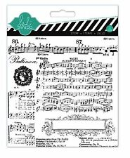 American Crafts Clear Background Stamp ~ HEIDI SWAPP ~ MISIC NOTES  ~   ~ 01144
