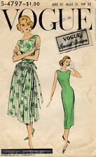 1950's VTG VOGUE Misses' Dress and Overskirt Pattern 4797 Size 10