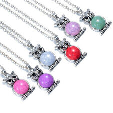 NEW 6PCS mix Vintage Crystal Owl Pendant Necklace Long Chain Rhinestone Jewelry
