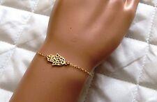 Gold bracelet,Hamsa bracelet, dainty bracelet,gold hamsa bracelet