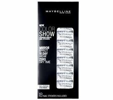 Maybelline Fashion Prints Mirror Effect Nail Stickers - 60 Frayed Foils New