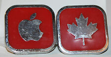 2x Apple Inc. Vancouver Canada 2010 Olympics Collectible Pinback Pin Buttons