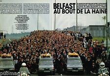 Coupure de Presse Clipping 1993 (4 pages) Attentat ,Belfast au bout de la haine