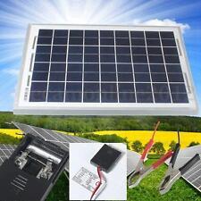 10W 12V Panel Solar Fotovoltaico Energía Cargador Batería Policristalino