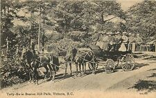 c1910 Postcard; Tally-Ho Carriage Ride in Beacon Hill Park Vancouver BC Canada