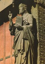 "*Religious Postcard-""Jesus Statue"" /Amiens Catholic Cathedral/ @ France (#163)"