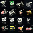 Lot Stainless Steel Super Heroes Jewelry Wedding Gift Men's Cuff Links Cufflinks