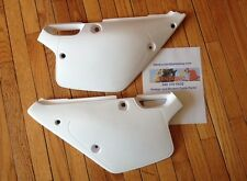 91 - 92 Yamaha YZ125 YZ250 WR500 WHITE Side Panels SET replaces YA02834-046 NEW!
