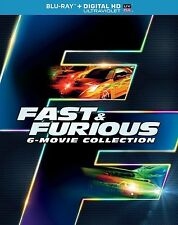 The Fast and The Furious 1-6 Movies Blu-ray Disc Collection + Slip Cover