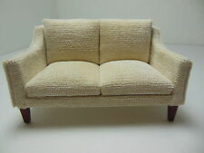 Dollhouse Miniatures Furniture 1/12: 3225-1mhve Mahogany Upholstered Couch