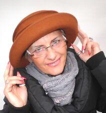 Damenhut Rostfarbig sehr eleganter Hut Bestseller Damenhüte Anlasshüte