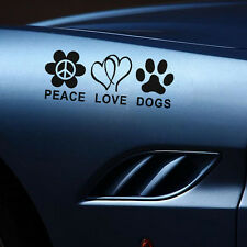 Peace Love Dogs Car Stickers Paw Print Car Decals Vinyl Car Window Decals