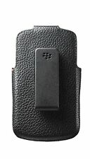 New for Blackberry Q10 Leather Swivel Holster Pouch Sleeve Case Retail Black