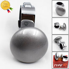 Silver Steering Wheel Spinner Knob Auxiliary Booster Aid Control Handle Awesome