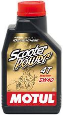 MOTUL SCOOTER POWER 4T 5W-40 OLIO MOTORE 100% SINTETICO FLACONE da 1 LITRO