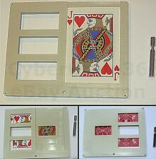 ZIG ZAG BICYCLE PLAYING CARD ILLUSION WITH STAND NEW MAGIC TRICK SEE VIDEO DEMO